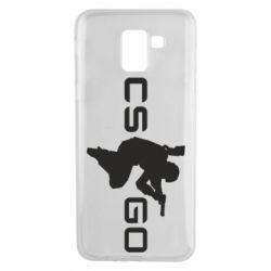 Чехол для Samsung J6 Контр Страйк, логотип и игрок