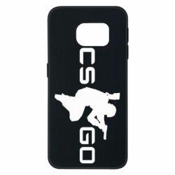Чехол для Samsung S6 EDGE Контр Страйк, логотип и игрок