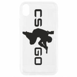 Чехол для iPhone XR Контр Страйк, логотип и игрок