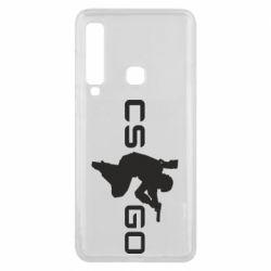 Чехол для Samsung A9 2018 Контр Страйк, логотип и игрок