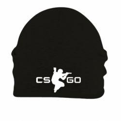 Шапка на флисе Контр Страйк, логотип и игрок