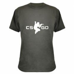 Камуфляжная футболка Контр Страйк, логотип и игрок