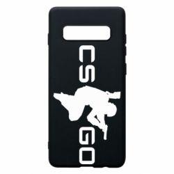 Чехол для Samsung S10+ Контр Страйк, логотип и игрок