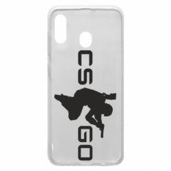 Чехол для Samsung A30 Контр Страйк, логотип и игрок
