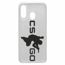 Чехол для Samsung A40 Контр Страйк, логотип и игрок