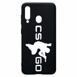 Чехол для Samsung A60 Контр Страйк, логотип и игрок