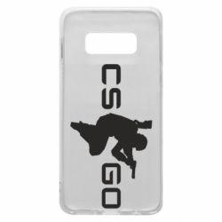 Чехол для Samsung S10e Контр Страйк, логотип и игрок