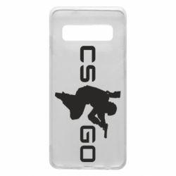 Чехол для Samsung S10 Контр Страйк, логотип и игрок