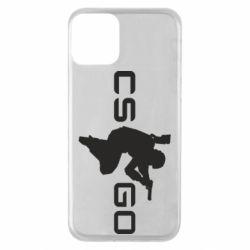 Чехол для iPhone 11 Контр Страйк, логотип и игрок