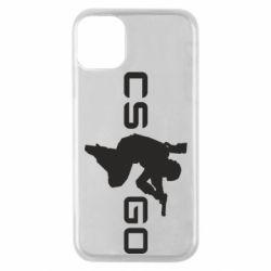 Чехол для iPhone 11 Pro Контр Страйк, логотип и игрок