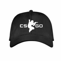 Детская кепка Контр Страйк, логотип и игрок