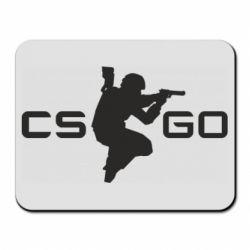 Коврик для мыши Контр Страйк, логотип и игрок