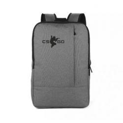 Рюкзак для ноутбука Контр Страйк, логотип и игрок