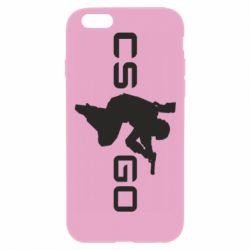 Чехол для iPhone 6 Plus/6S Plus Контр Страйк, логотип и игрок