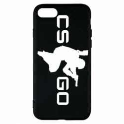 Чехол для iPhone 7 Контр Страйк, логотип и игрок