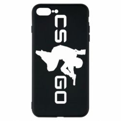 Чехол для iPhone 7 Plus Контр Страйк, логотип и игрок