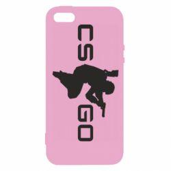 Чехол для iPhone5/5S/SE Контр Страйк, логотип и игрок