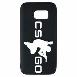 Чехол для Samsung S7 Контр Страйк, логотип и игрок