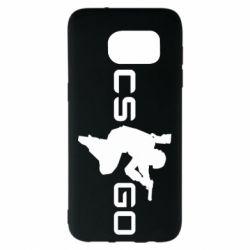 Чехол для Samsung S7 EDGE Контр Страйк, логотип и игрок