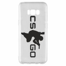 Чехол для Samsung S8+ Контр Страйк, логотип и игрок