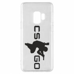 Чехол для Samsung S9 Контр Страйк, логотип и игрок