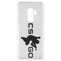 Чехол для Samsung S9+ Контр Страйк, логотип и игрок