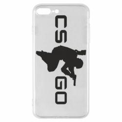 Чехол для iPhone 8 Plus Контр Страйк, логотип и игрок