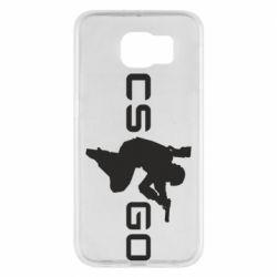 Чехол для Samsung S6 Контр Страйк, логотип и игрок