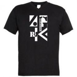 Мужская футболка  с V-образным вырезом Контрформа