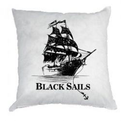 Подушка Корабль с черными парусами