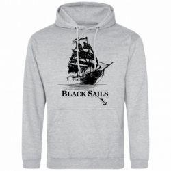 Мужская толстовка Корабль с черными парусами