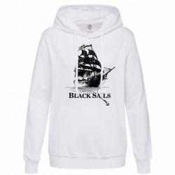 Толстовка жіноча Корабель з чорними вітрилами