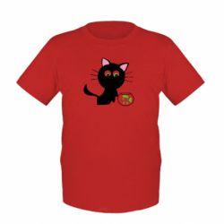 Детская футболка Кошечка и аквариум - FatLine