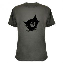Камуфляжная футболка Кошечка - FatLine