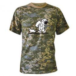 Камуфляжная футболка Космонавт - FatLine