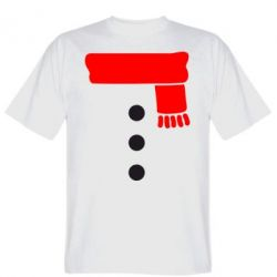 Мужская футболка Костюм снеговика - FatLine