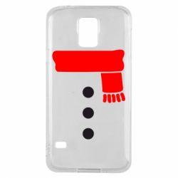 Чохол для Samsung S5 Костюм сніговика