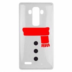 Чехол для LG G4 Костюм снеговика - FatLine