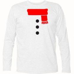 Футболка с длинным рукавом Костюм снеговика - FatLine