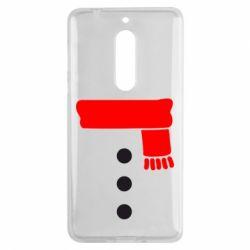 Чехол для Nokia 5 Костюм снеговика - FatLine