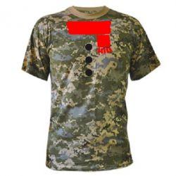 Камуфляжная футболка Костюм снеговика - FatLine