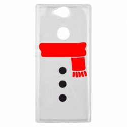 Чехол для Sony Xperia XA2 Plus Костюм снеговика - FatLine