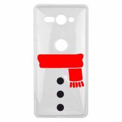 Чехол для Sony Xperia XZ2 Compact Костюм снеговика - FatLine