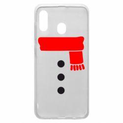 Чохол для Samsung A20 Костюм сніговика