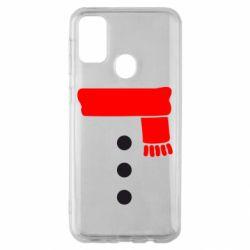 Чохол для Samsung M30s Костюм сніговика