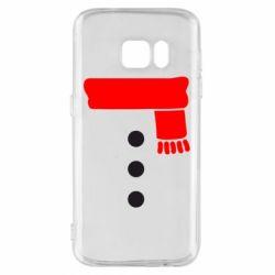 Чохол для Samsung S7 Костюм сніговика