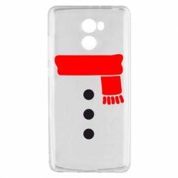 Чехол для Xiaomi Redmi 4 Костюм снеговика - FatLine