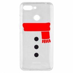 Чехол для Xiaomi Redmi 6 Костюм снеговика - FatLine