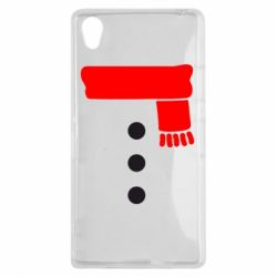 Чехол для Sony Xperia Z1 Костюм снеговика - FatLine