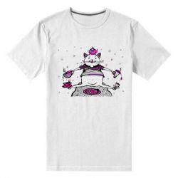 Чоловіча стрейчова футболка Кот чайний бармен